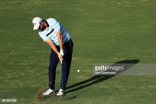 Marc Leishman of Australia plays a shot on the 16th hole during the second round of the Sentry Tournament of Champions at Plantation Course at...