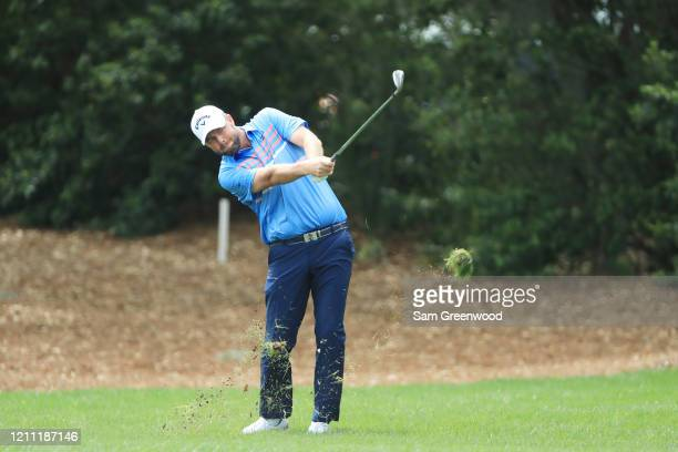 Marc Leishman of Australia plays a shot on the first hole during the final round of the Arnold Palmer Invitational Presented by MasterCard at the Bay...