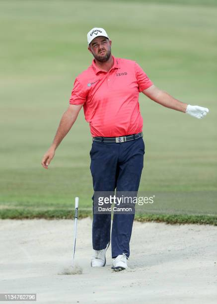 Marc Leishman of Australia plays his second shot on the par 5, 16th hole during the third round of the 2019 Arnold Palmer Invitational presented by...