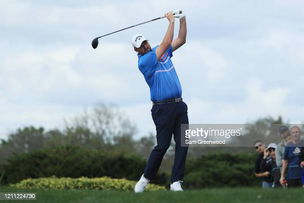 Marc Leishman of Australia plays his shot from the eighth tee during the final round of the Arnold Palmer Invitational Presented by MasterCard at the...