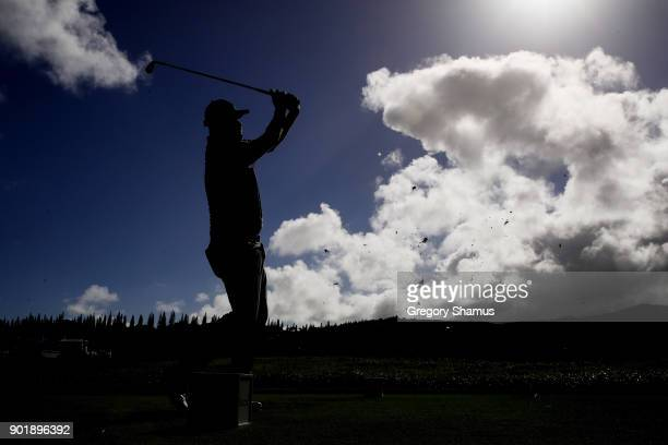 Marc Leishman of Australia plays his shot from the second tee during the third round of the Sentry Tournament of Champions at Plantation Course at...