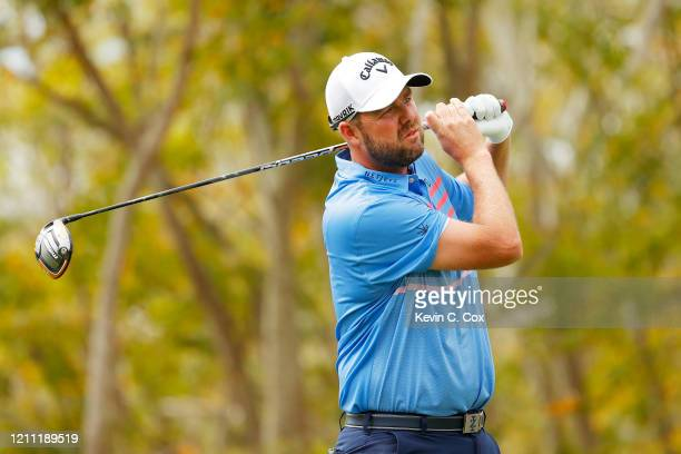 Marc Leishman of Australia plays his shot from the third tee during the final round of the Arnold Palmer Invitational Presented by MasterCard at the...