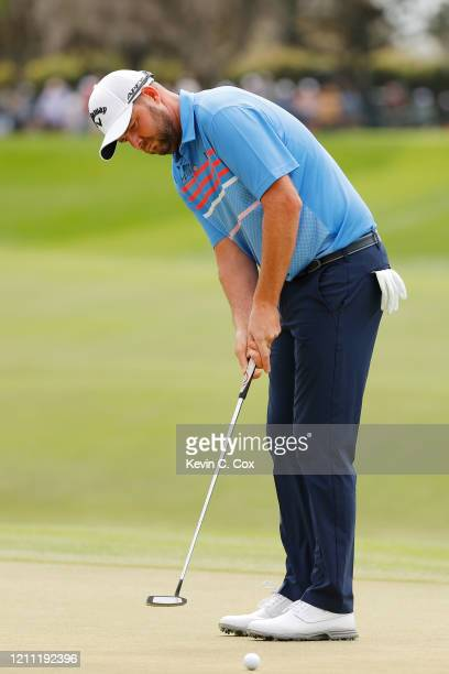 Marc Leishman of Australia putts on the second green during the final round of the Arnold Palmer Invitational Presented by MasterCard at the Bay Hill...