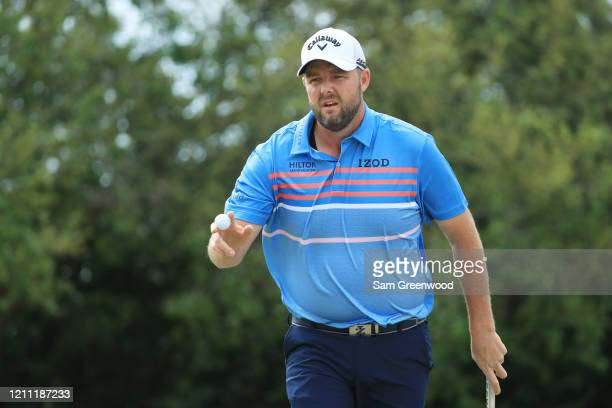 Marc Leishman of Australia reacts on the first green during the final round of the Arnold Palmer Invitational Presented by MasterCard at the Bay Hill...