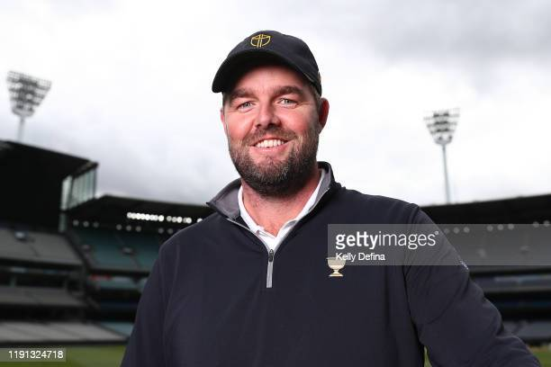 Marc Leishman poses ahead of the 2019 Presidents Cup at Melbourne Cricket Ground on December 02 2019 in Melbourne Australia