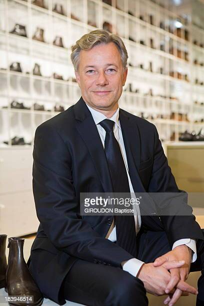 Marc Lelalndais the French CEO of Vivarte group poses on September 13 2013 in Thiais France