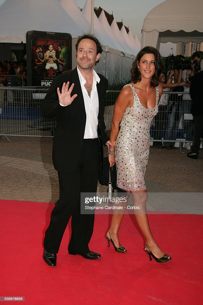 Marc Levy, Pauline Leveque arrive at the premiere of 'The Ice Harvest' during the 31st American Deauville Film Festival.