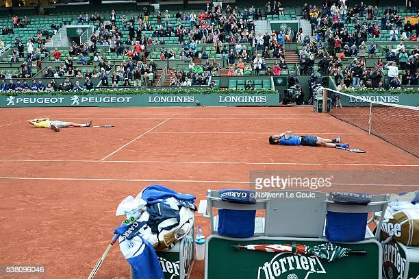 Marc Lopez and Feliciano Lopez celebrate victory