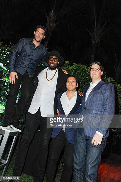 Marc Lotenberg Amar'e Stoudemire Robbie Antonio and Spencer Bailey attend the SURFACE Magazine and W South Beach Hotel Residences present Design...