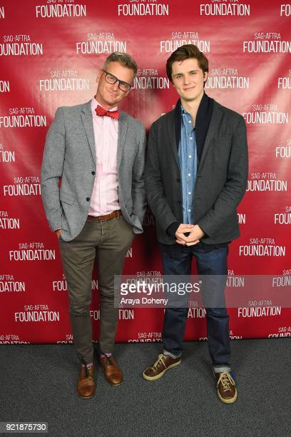 Marc Malkin and Eugene Simon attend the SAGAFTRA Foundation Conversations screening of 'The Lodgers' at SAGAFTRA Foundation Screening Room on...