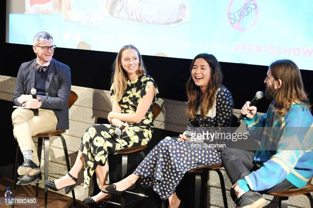 Marc Malkin Anna Konkle Maya Erskine and Sam Zvibleman attend the panel discussion after the screening of Pen15 at NeueHouse Hollywood on February 05...