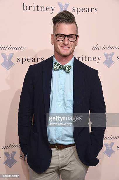 Marc Malkin attends the exclusive unveiling of The Intimate Britney Spears at New York Public Library Celeste Bartos Forum on September 9 2014 in New...