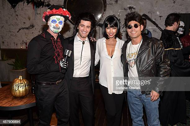 Marc Malkin Matthew Morrison Renee Puente and Eric Podwall attend Matthew Morrison's 5th Annual Halloween Party Presented By Freixenet at Hyde On...