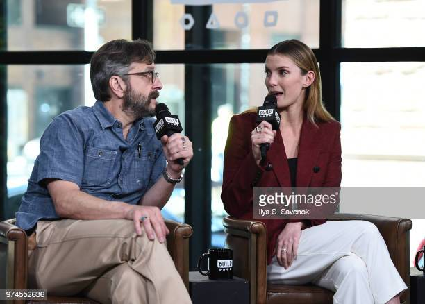 Marc Maron and Betty Gilpin visit Build Series to promote 'GLOW' at Build Studio on June 14 2018 in New York City