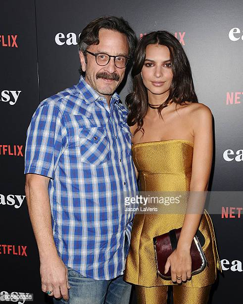 Marc Maron and Emily Ratajkowski attend the premiere of 'Easy' at The London Hotel on September 14 2016 in West Hollywood California
