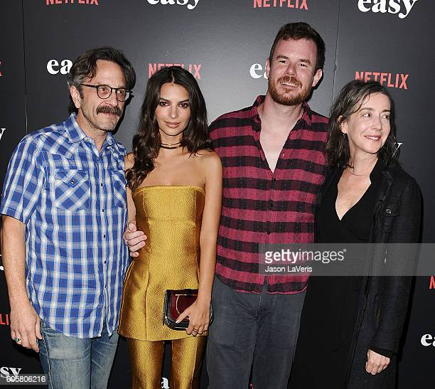 Marc Maron Emily Ratajkowski Joe Swanberg and Jane Adams attend the premiere of 'Easy' at The London Hotel on September 14 2016 in West Hollywood...