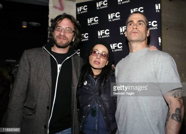 Marc Maron Janeane Garofalo and Henry Rollins during It's Not a Play and There's No Music Featuring Janeane Garofalo Henry Rollins and Marc Maron at...