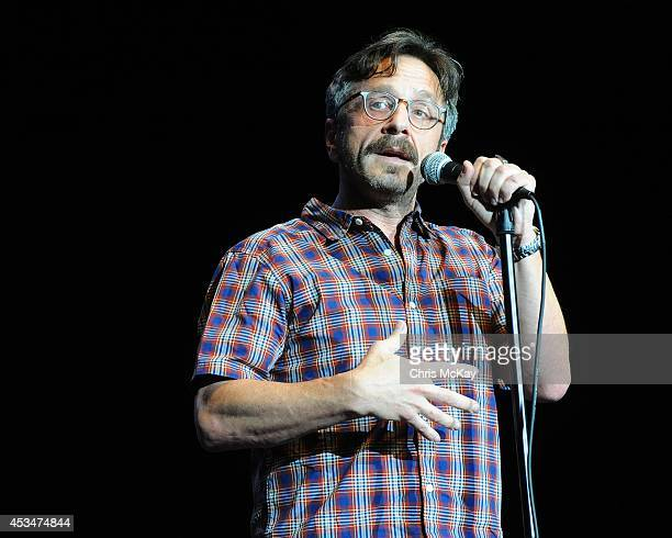 Marc Maron performs during the Funny Or Die Oddball Comedy Curiosity Festival at Aaron's Amphitheatre on August 10 2014 in Atlanta Georgia