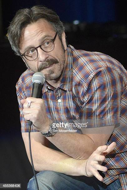 Marc Maron performs during the Oddball Comedy And Curiosity Festival at Shoreline Amphitheatre on September 12 2014 in Mountain View California