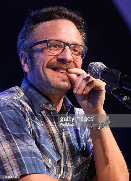 Marc Maron performs onstage during Day 3 of Bonnaroo 2012 on June 9 2012 in Manchester Tennessee
