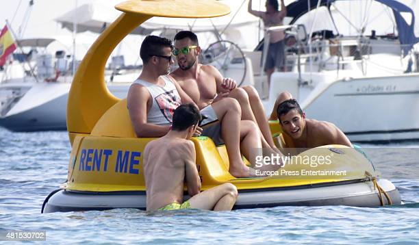 Marc Marquez and Alex Marquez are seen on July 19 2015 in Ibiza Spain