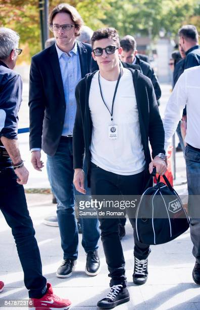 Marc Marquez arrives to the Funeral Tribute For Angel Nieto in Madrid on September 16 2017 in Madrid Spain