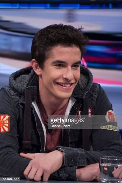 Marc Marquez attends 'El Hormiguero' Tv Show at Vertice Studio on December 10 2013 in Madrid Spain