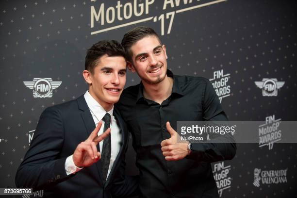 Marc Marquez champion of MotGP whit trastevere73 champion of MotoGP eSports during the FIM Awards Ceremony after the Gran Premio Motul de la...