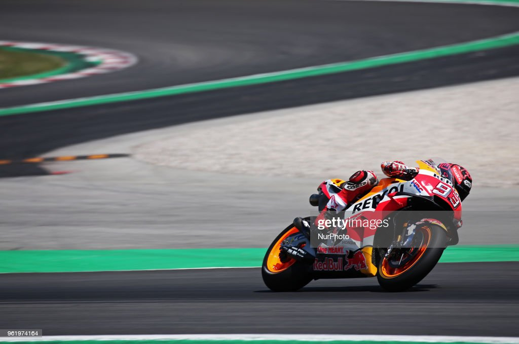 Marc Marquez (Honda) during the Moto GP test in the Barcelona Catalunya Circuit, on 23th May 2018 in Barcelona, Spain. --
