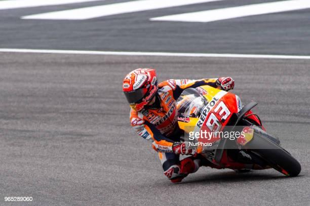 Marc Marquez of Repsol Honda Team during the 2018 MotoGP Italian Grand Prix Free Practice at Circuito del Mugello Scarperia Italy on 1 June 2018