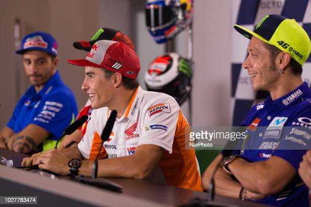 Marc Marquez of Repsol Honda Team during the presentation press conference of the OCTO Grand Prix of San Marino e della Riviera di Rimini at Misano...