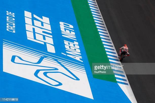Marc Marquez of Spain and Repsol Honda Team during the test of MotoGP at Circuito de Jerez Angel Nieto on May 6, 2019 in Jerez de la Frontera, Spain.