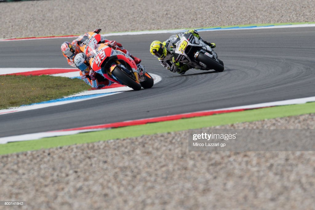 Marc Marquez of Spain and Repsol Honda Team leads the field during the MotoGP Netherlands - Free Practice on June 23, 2017 in Assen, Netherlands.