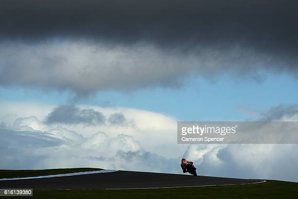 Marc Marquez of Spain and Repsol Honda Team rides during free practice for the 2016 MotoGP of Australia at Phillip Island Grand Prix Circuit on...