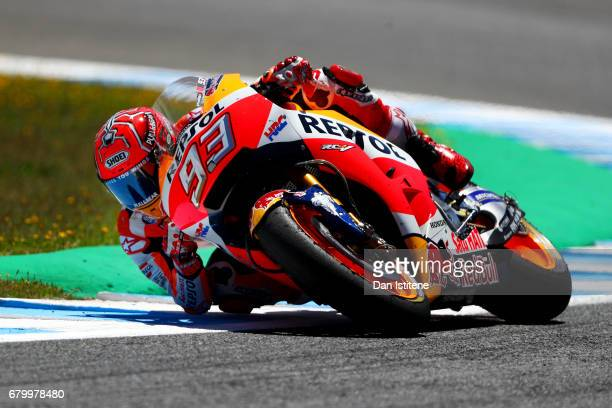 Marc Marquez of Spain and the Repsol Honda Team rides during the MotoGP of Spain at Circuito de Jerez on May 7 2017 in Jerez de la Frontera Spain