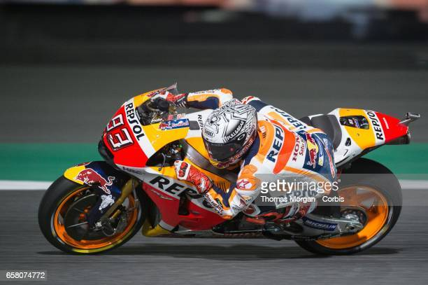 Marc Marquez of Spain who rides Honda for Repsol Honda during free practice session 1 during the Grand Prix of Qatar on March 23 2017 in Doha Qatar