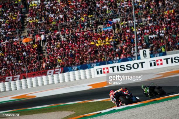 Marc Marquez Repsol Honda Team Honda during the race day of the Gran Premio Motul de la Comunitat Valenciana Circuit of Ricardo TormoValencia Spain...