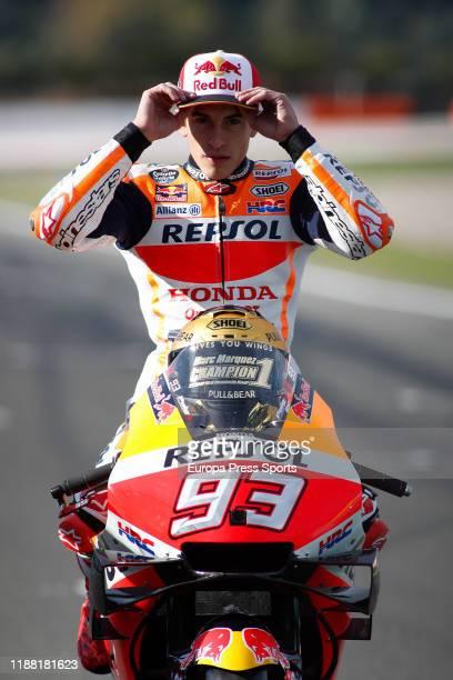 Marc Marquez, rider of Repsol Honda Team from Spain, looks on during the World Champion photo during the Gran Premio Motul de la Comunitat Valenciana...