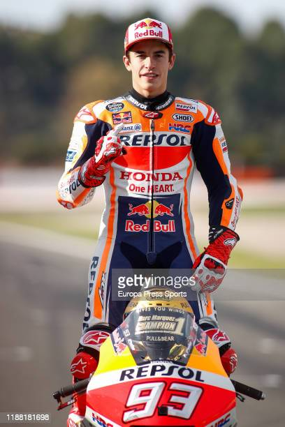 Marc Marquez, rider of Repsol Honda Team from Spain, looks on during the World Champion photo during the Gran Premio Motul de la Comunitat Valenciana...