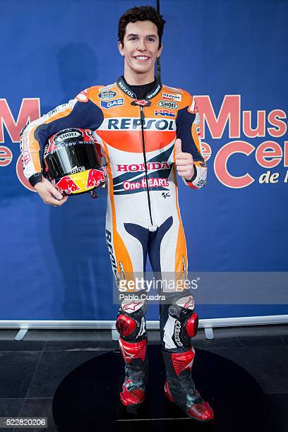Marc Marquez's Wax figure at Wax Museum on April 21 2016 in Madrid Spain