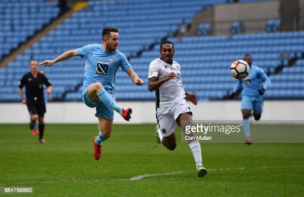 Marc McNulty of Coventry City scores his sides second goal during the The Emirates FA Cup Second Round match between Coventry City and Boreham Wood...