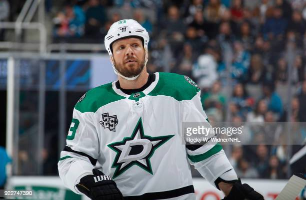 Marc Methot of the Dallas Stars looks on during the game against the San Jose Sharks at SAP Center on February 18 2018 in San Jose California