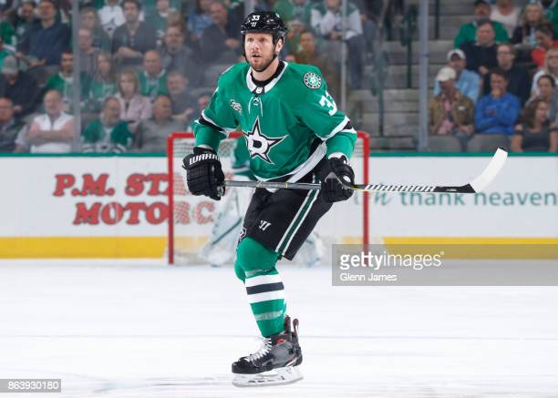 Marc Methot of the Dallas Stars skates against the Arizona Coyotes at the American Airlines Center on October 17 2017 in Dallas Texas