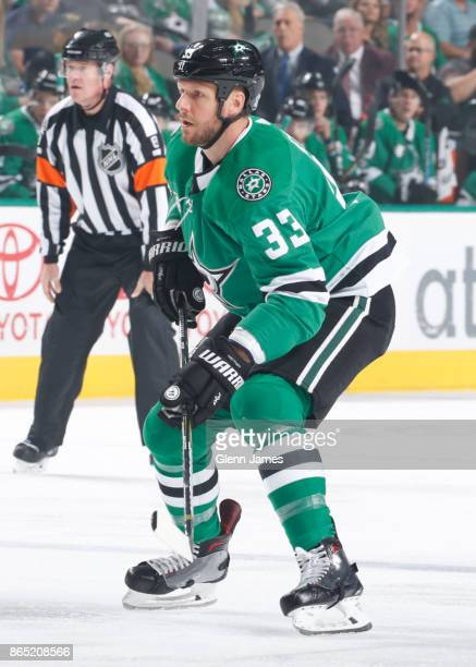 Marc Methot of the Dallas Stars skates against the Carolina Hurricanes at the American Airlines Center on October 21 2017 in Dallas Texas