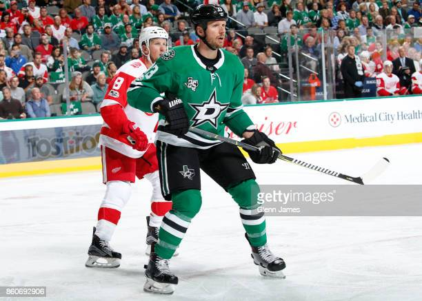 Marc Methot of the Dallas Stars skates against the Detroit Red Wings at the American Airlines Center on October 10 2017 in Dallas Texas