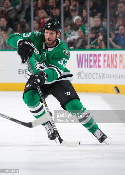 Marc Methot of the Dallas Stars skates against the St Louis Blues at the American Airlines Center on February 16 2018 in Dallas Texas