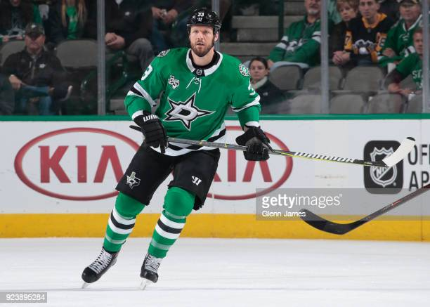 Marc Methot of the Dallas Stars skates against the Winnipeg Jets at the American Airlines Center on February 24 2018 in Dallas Texas