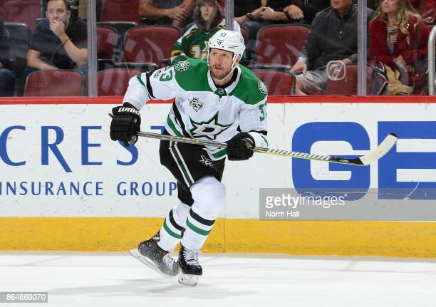 Marc Methot of the Dallas Stars skates up ice against the Arizona Coyotes at Gila River Arena on October 19 2017 in Glendale Arizona