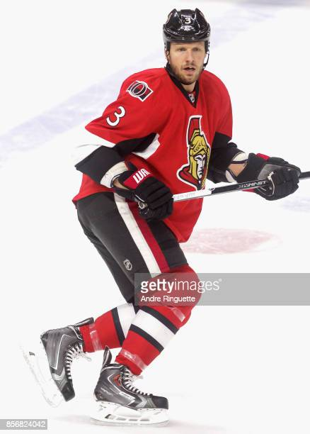 Marc Methot of the Ottawa Senators plays in a game against the Florida Panthers at Canadian Tire Centre on February 21 2015 in Ottawa Ontario Canada