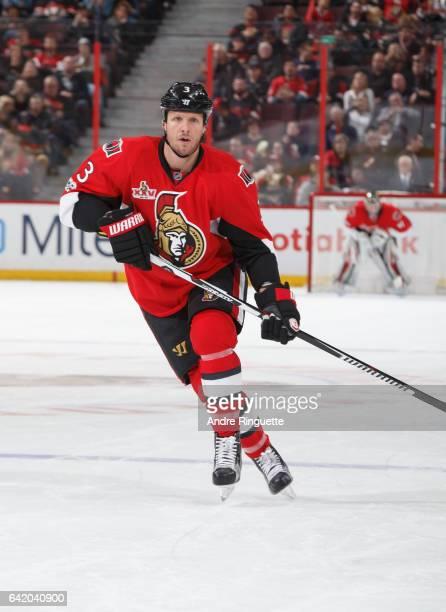 Marc Methot of the Ottawa Senators skates against the Buffalo Sabres at Canadian Tire Centre on February 14 2017 in Ottawa Ontario Canada
